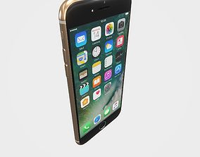 3D model Highly detailed Iphone7 Gold PBR
