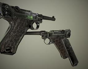 Luger P08 3D asset