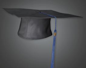 3D model Graduate Cap - HAT - PBR Game Ready