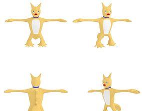3D asset Manis cartoon mascot