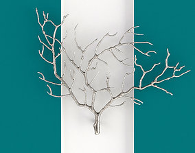 Metal Tree Branch Wall Sculpture 3D