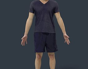 Animated Sports Man - A-pose - Vince 3D model