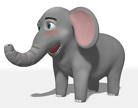 Elephant Rigged 3D asset VR / AR ready