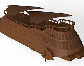 milteray Jabba The Hutt s Sail Barge Ship 3D model