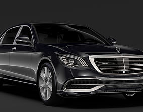 Mercedes Maybach S 650 Guard X222 2018 3D
