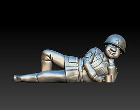 3D print model Soldier at halt