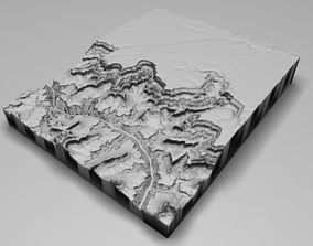 The Grand Canyon in Arizona United States Low Poly 3D