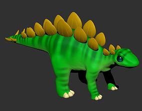 Stegosaurus Cartoon Dinosaur 3D printable model