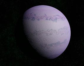 Light pink gas giant 3D model