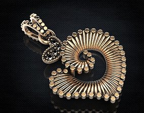 Stylish seashell pendant 438 3D print model