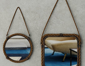 3D Molyneux Jute and Metal Mirror Set