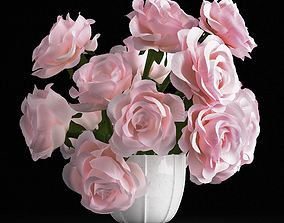3D model Pink rose bouquet
