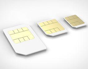 sim card set 3D