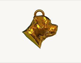 3D print model adult rottweiler dog pendant earring