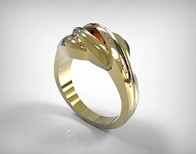 3D print model Jewelry Golden Ring Oval Braided Lines