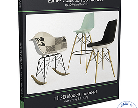 3D model Eames Furniture Collection