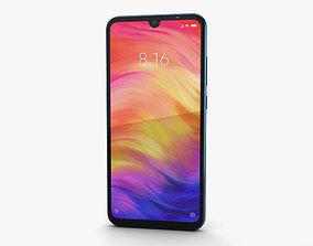 3D Xiaomi Redmi Note 7 Blue