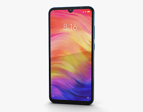 3D Xiaomi Redmi Note 7 Blue