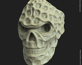 biker skull vol15 ring 3D print model