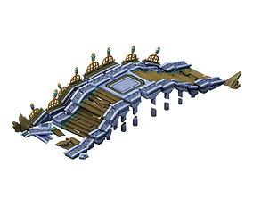 3D Game Model - Broken Stone Bridge Magic Star Bridge