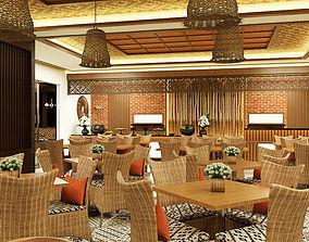 Traditional Restaurant Sundanese Ethnic 3D model