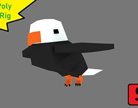 Low-Poly Eagle Rig 3D asset