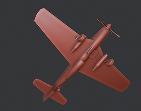 3D asset North American P- 51 Mustang WW2