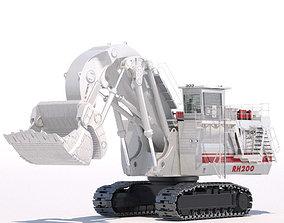 Mining Excavator Terex RH200 FS 3D model