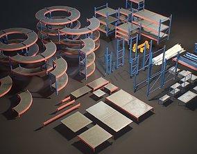 Storage Rack Collection - Modular Game ready 3D asset