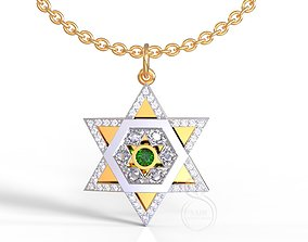judaic 3D print model Star of David