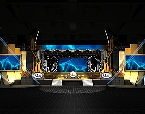 stage design 3D spotlight