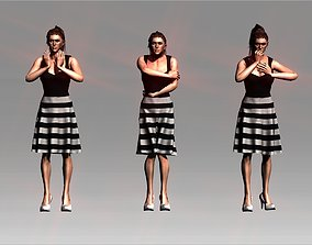 Cold female motion collection 3D