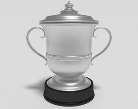 Football Trophy Cup 3D asset