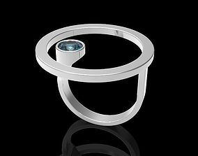 Ring with gem 5mm and ring with sphere 3D printable model