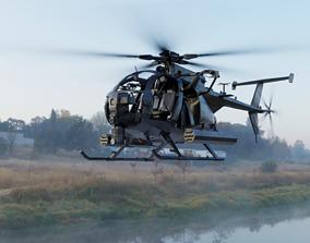 AH-6 Little Bird Rigged 3D model