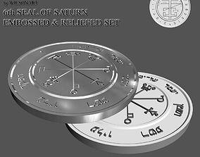 3D printable model 6th Seal of Saturn