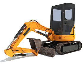 Small Excavator excavator 3D model