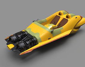 Star Wars Anakin speeder 3D print model