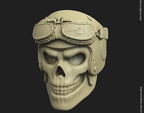 3D printable model Biker helmet skull vol3 ring