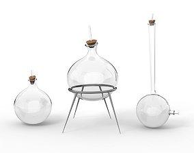 potion 3D model chemistry recipient flask bowl