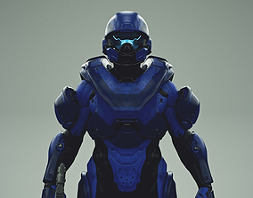 3D model HALO 5 spartan athlon armor