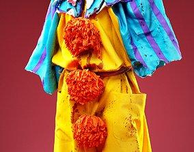 3D asset Horror Bloody Clown Costume