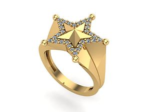 3D print model Sheriff Star Ring