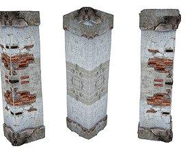 Old house Pillar 01 02 3D model
