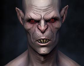 Vampire Nosferatu bust monster 3D print model