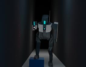 3D printable model Robot in dark hallway