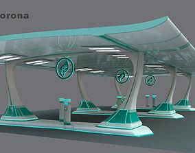 Solar charger 3D model