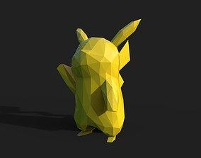 3D print model geometric-shape Pikachu Low Poly