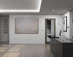 Living Room Kitchen Interior 3D