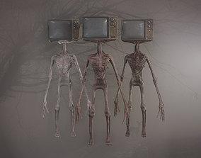 TV head Monster 3D model
